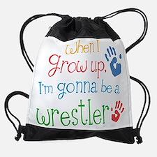 wrestler_future.png Drawstring Bag
