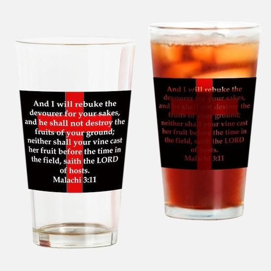 Malachi 3-11 Drinking Glass
