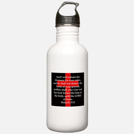 Malachi 3-11 Water Bottle