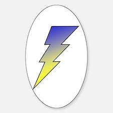 The Lightning Bolt 3 Shop Oval Decal