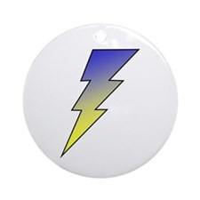 The Lightning Bolt 3 Shop Ornament (Round)