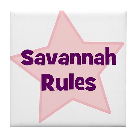 Savannah Rules Tile Coaster