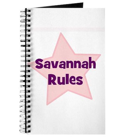 Savannah Rules Journal