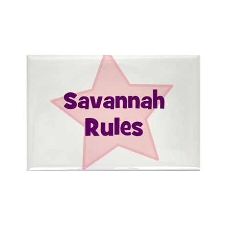 Savannah Rules Rectangle Magnet