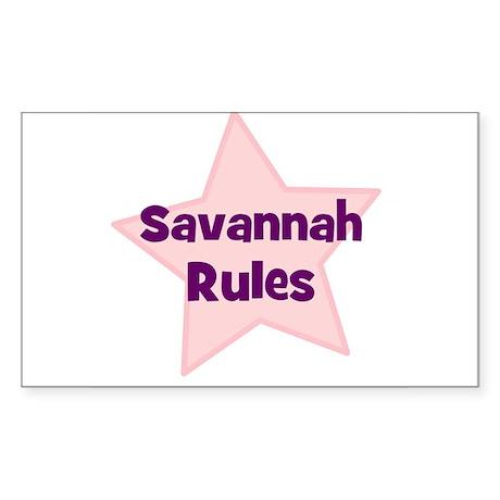 Savannah Rules Rectangle Sticker