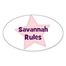 Savannah Rules Oval Decal