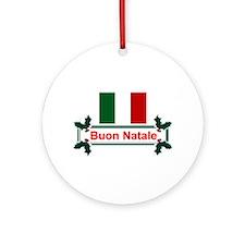 Italian Buon Natale Ornament (Round)