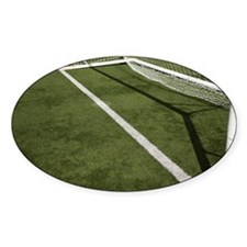 Goal line on a football pitch Decal