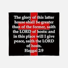 Haggai 2-9 Throw Blanket