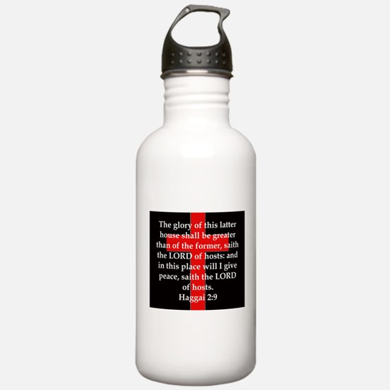 Haggai 2-9 Water Bottle