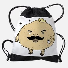 Tough Guy Macho Potato Drawstring Bag