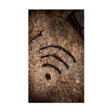 Wi-fi symbol on cave wall Decal