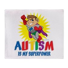 Autism Is My Superpower Throw Blanket