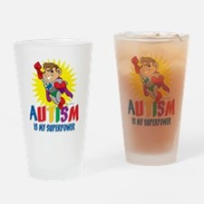 Autism Is My Superpower Drinking Glass