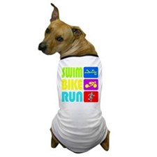 TRI Swim Bike Run Figures Dog T-Shirt