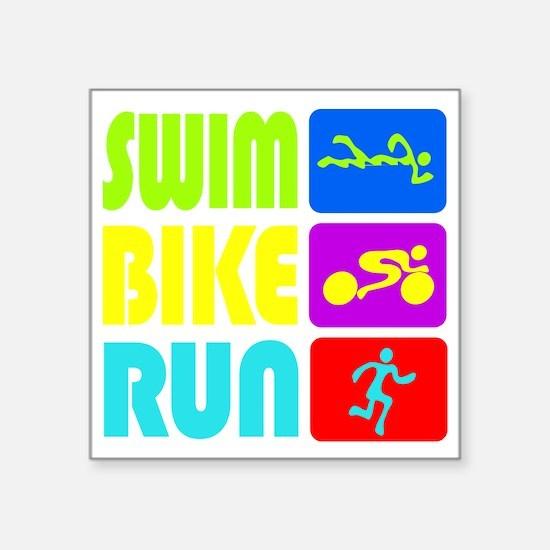 TRI Swim Bike Run Figures Sticker