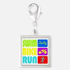 TRI Swim Bike Run Figures Charms