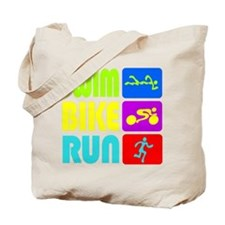 TRI Swim Bike Run Figures Tote Bag