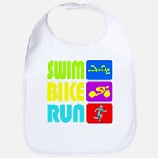 TRI Swim Bike Run Figures Bib
