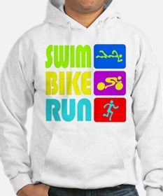 TRI Swim Bike Run Figures Hoodie