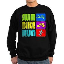 TRI Swim Bike Run Figures Sweatshirt