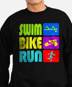 TRI Swim Bike Run Figures Sweatshirt
