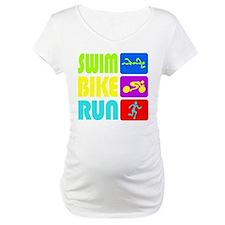 TRI Swim Bike Run Figures Shirt