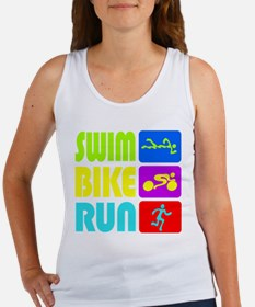 TRI Swim Bike Run Figures Tank Top