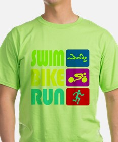 TRI Swim Bike Run Figures T-Shirt