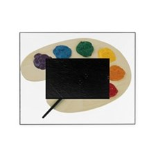 Paint pallet with rainbow colors Picture Frame