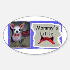 MOMMY'S LITTLE DEVIL (chihuahua) Oval Decal
