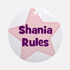 Shania Rules Ornament (Round)