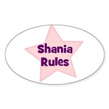 Shania Rules Oval Decal