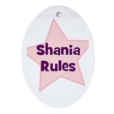 Shania Rules Oval Ornament