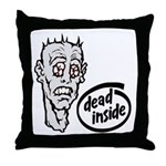 Dead Inside Zombie Throw Pillow