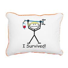Chemo Survivor Rectangular Canvas Pillow