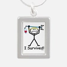 Chemo Survivor Silver Portrait Necklace