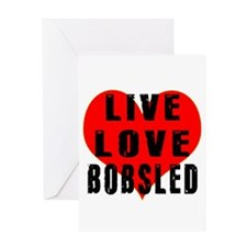 Live Love Bobsled Greeting Card