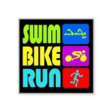 TRI Swim Bike Run Figures Sticker