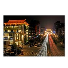Xian night view of busy r Postcards (Package of 8)