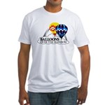 Balloons Over The Rainbow Fitted T-Shirt