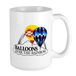 Balloons Over The Rainbow Large Mug