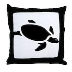 Sea Turtle Icon Throw Pillow