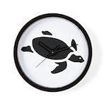 Sea Turtle Icon Wall Clock
