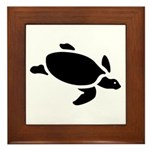 Sea Turtle Icon Framed Tile