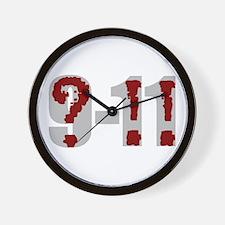 Question 9-11! (grey) Wall Clock
