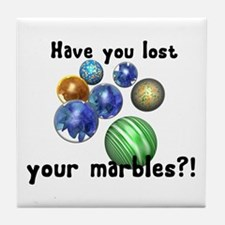 Lost Your Marbles Tile Coaster