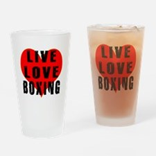 Live Love Boxing Drinking Glass