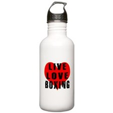 Live Love Boxing Sports Water Bottle