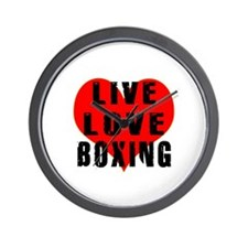 Live Love Boxing Wall Clock